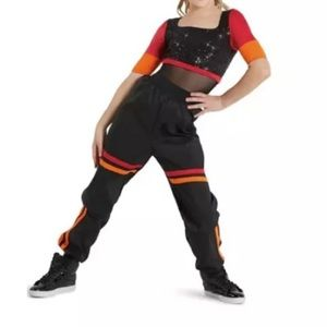 "WEISSMAN• Hip-Hop Costume ""Stay"" Red/Orange/Black"